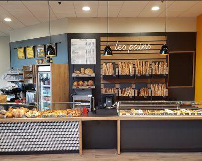 Agencement boulangerie en GMS